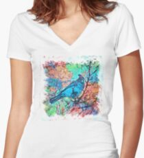 The Atlas of Dreams - Color Plate 233 Fitted V-Neck T-Shirt