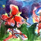 A Wave of Watercolour Flowers by Janette  Leeds