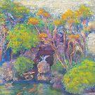 Kabuki Koi Pond (pastel) by Niki Hilsabeck