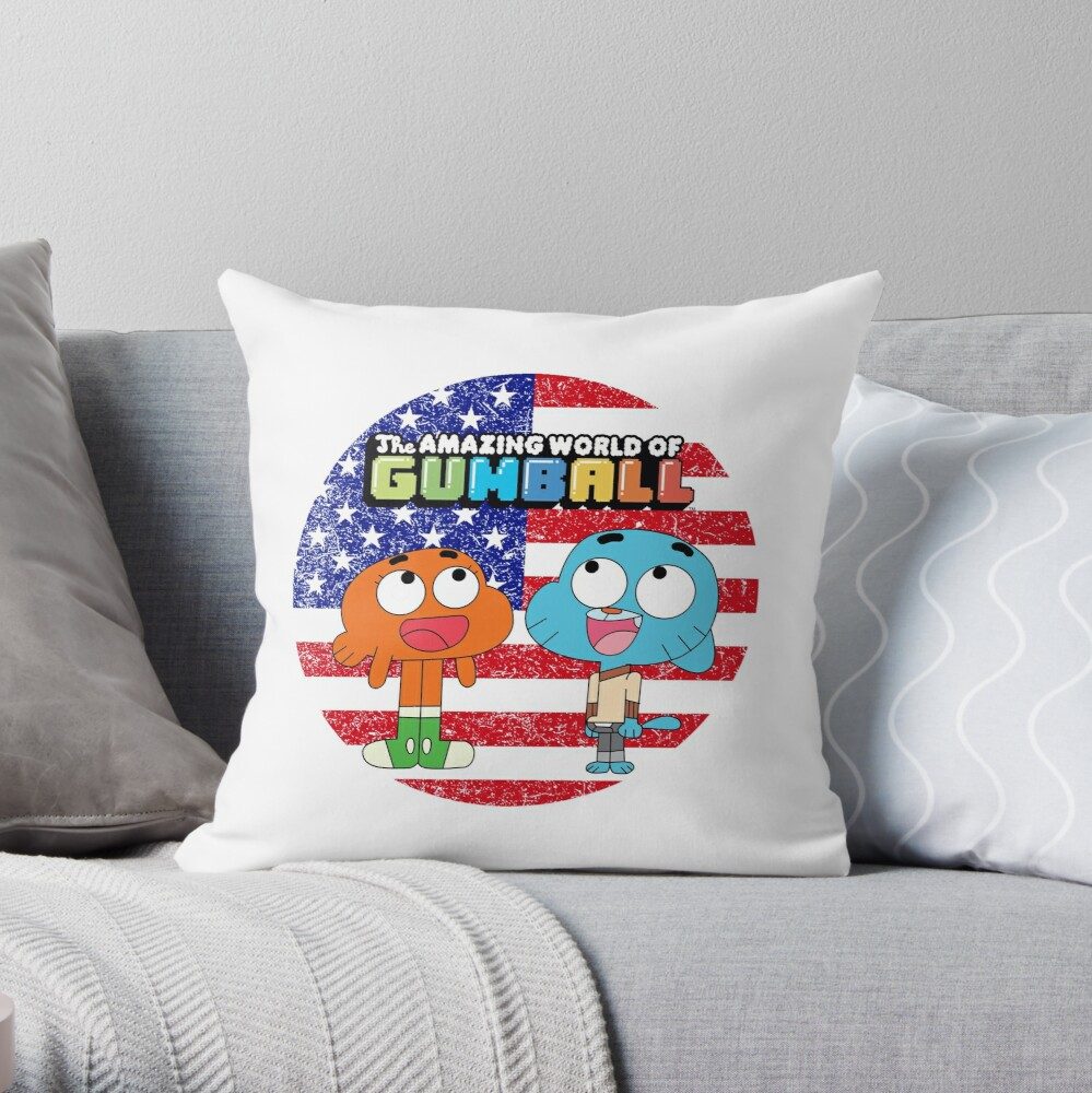 The amazing world of Gumball™, Gumball and Darwin Throw Pillow