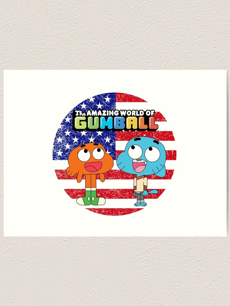 Alternate view of The amazing world of Gumball™, Gumball and Darwin Art Print
