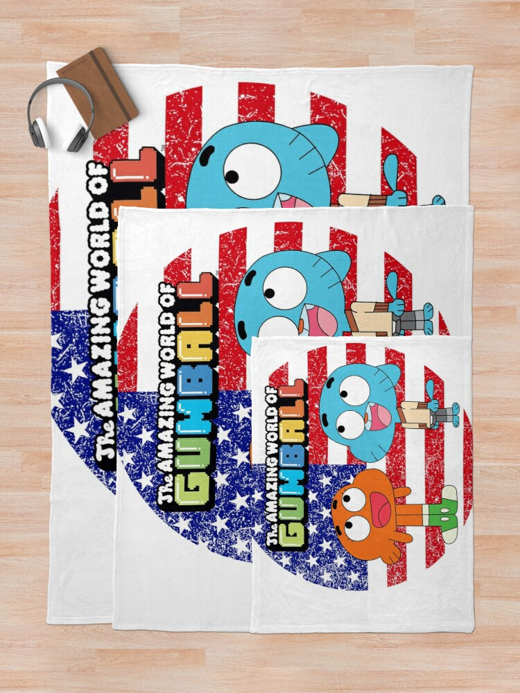 Alternate view of The amazing world of Gumball™, Gumball and Darwin Throw Blanket