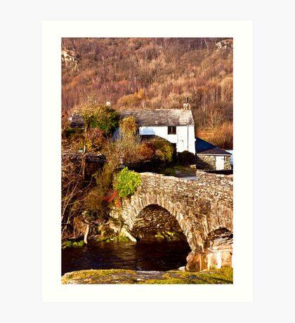 Cottage on the River Duddon Art Print