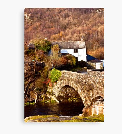 Cottage on the River Duddon Canvas Print