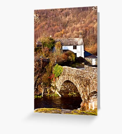 Cottage on the River Duddon Greeting Card