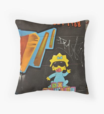 Grafitti Babe Throw Pillow