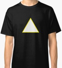 White Triangle Gold Border Classic T-Shirt