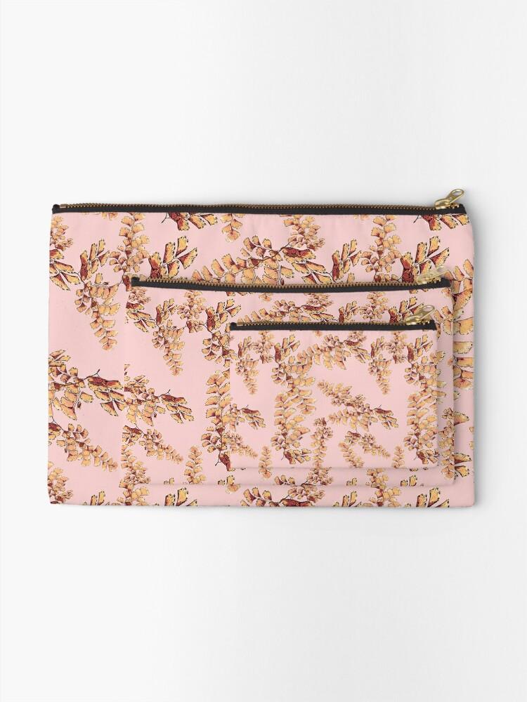 Alternative Ansicht von Goldene Blätter Muster Täschchen