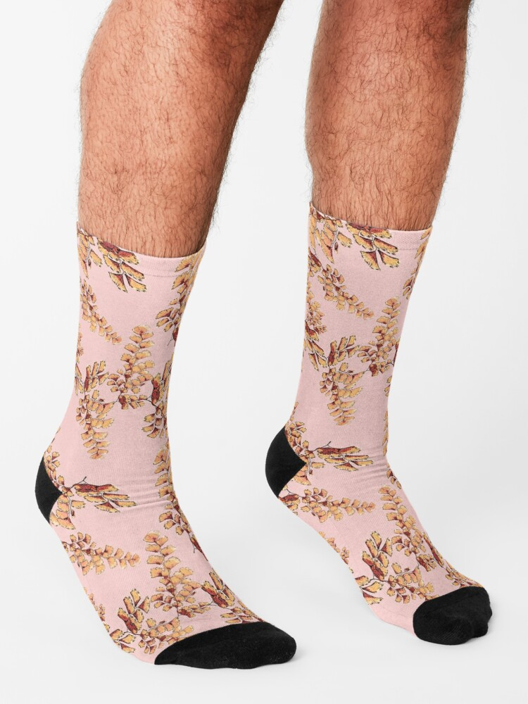 Alternative Ansicht von Goldene Blätter Muster Socken