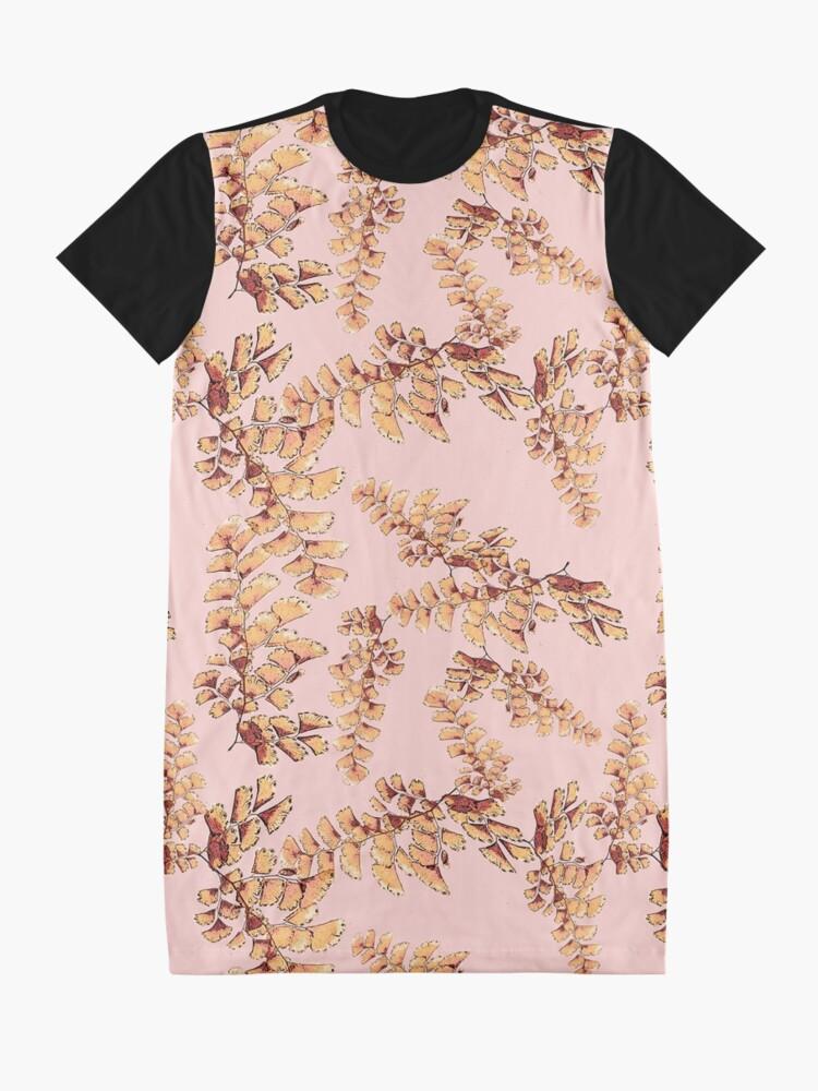 Alternative Ansicht von Goldene Blätter Muster T-Shirt Kleid