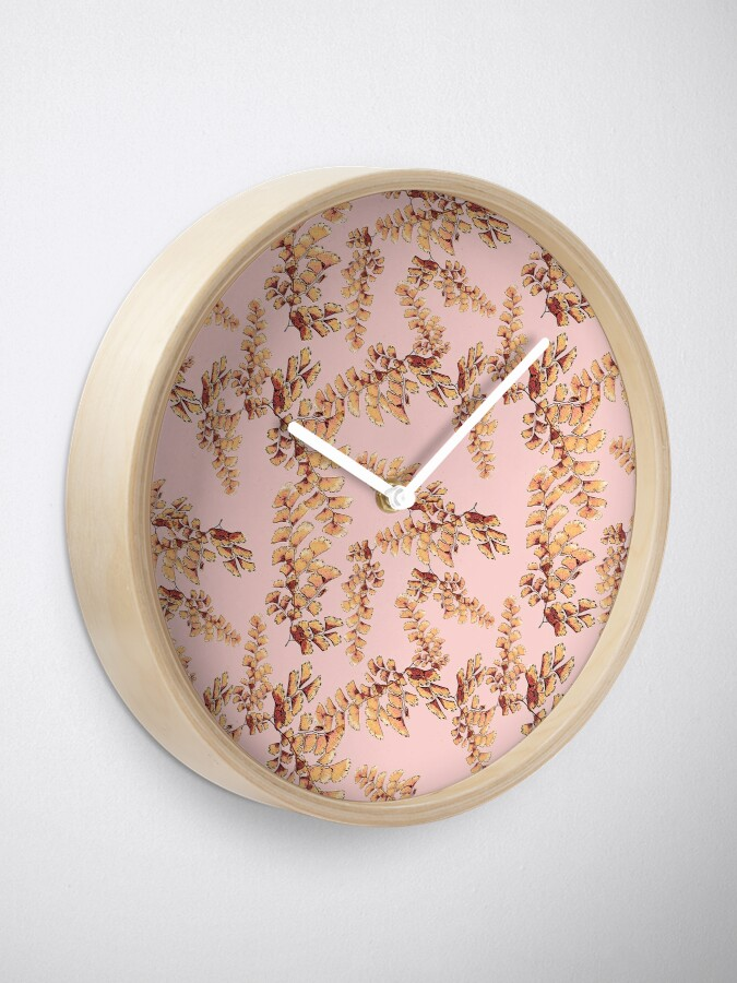 Alternative Ansicht von Goldene Blätter Muster Uhr