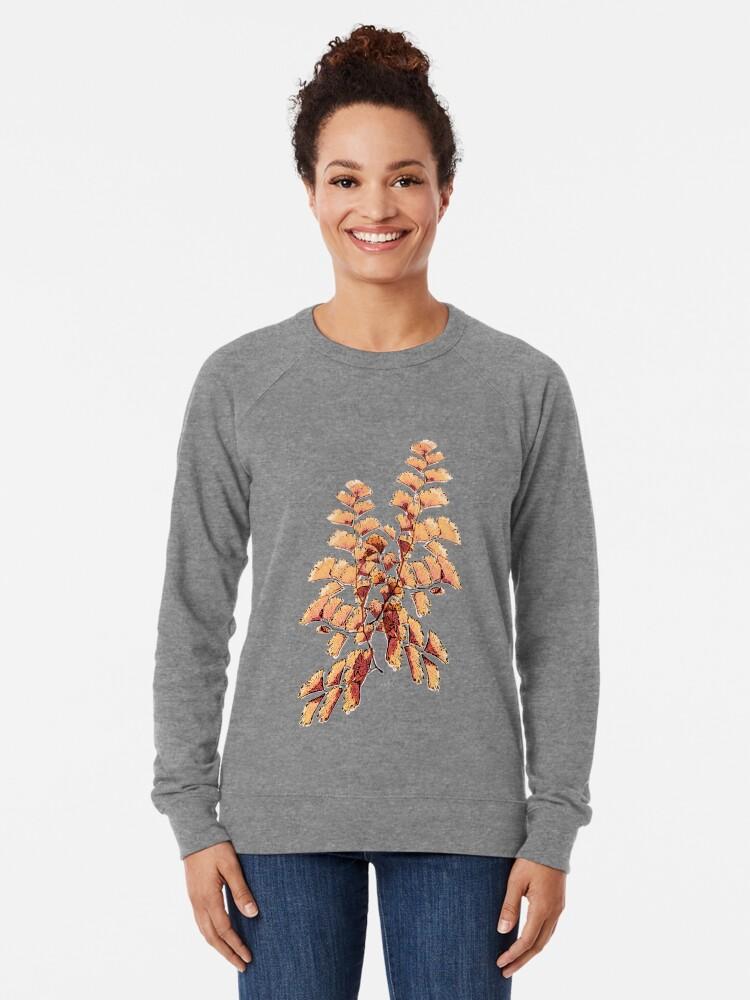Alternative Ansicht von Goldene Blätter Muster Leichter Pullover