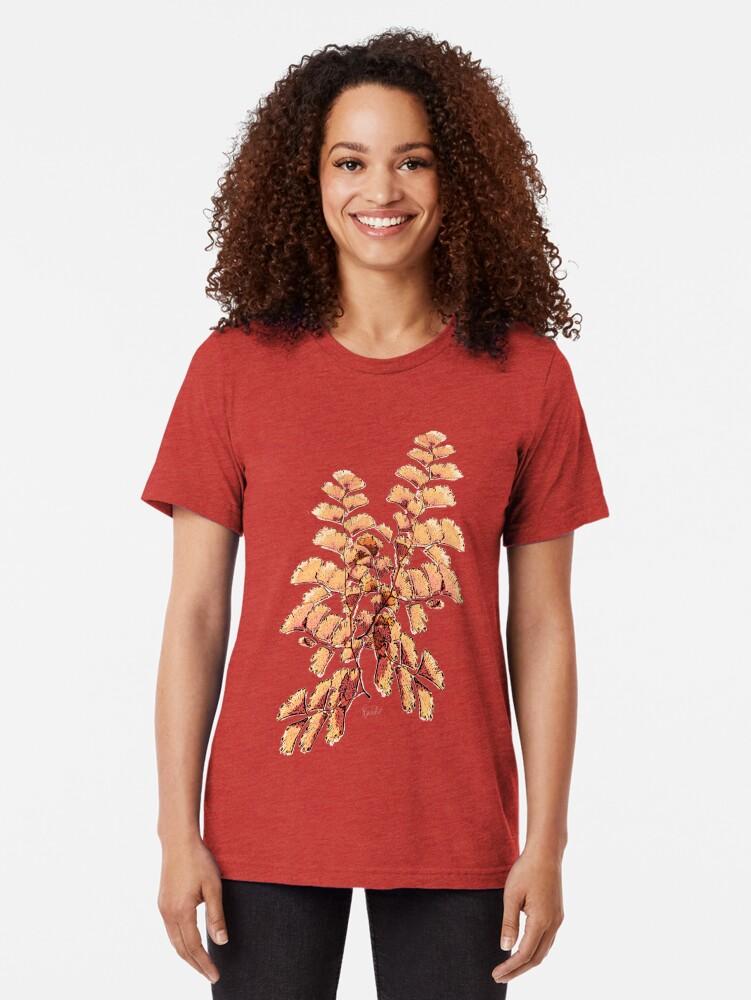 Alternative Ansicht von Goldene Blätter Muster Vintage T-Shirt