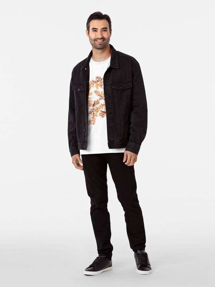 Alternative Ansicht von Goldene Blätter Muster Premium T-Shirt