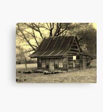 Vintage Dollhouse Cabin Canvas Print