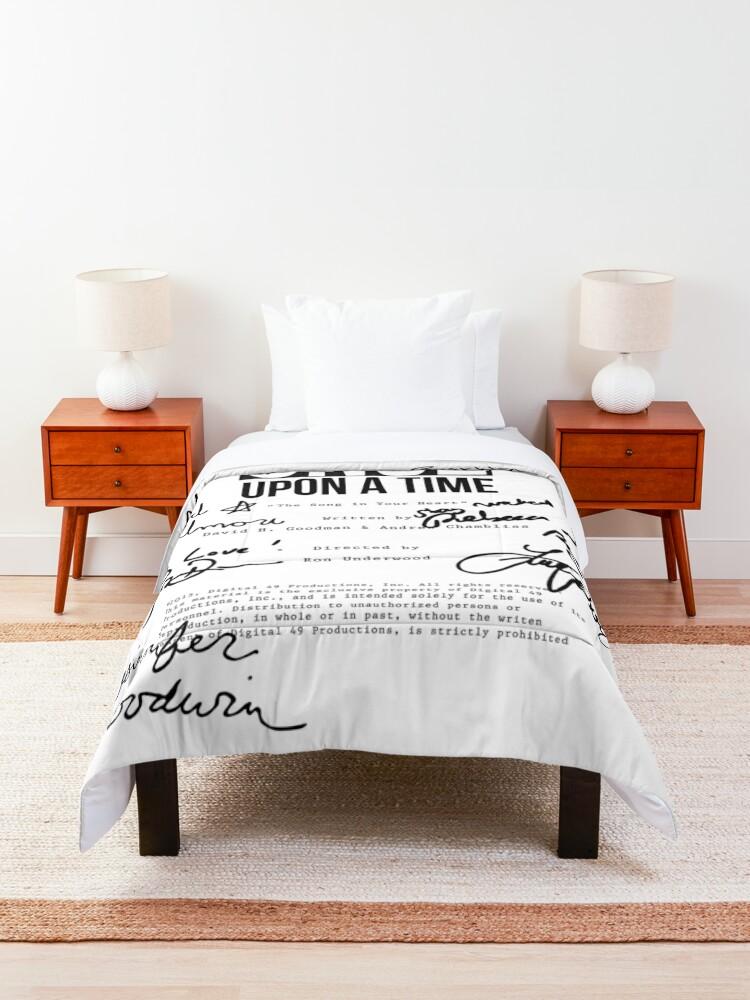 Alternate view of ouat script 620 Comforter