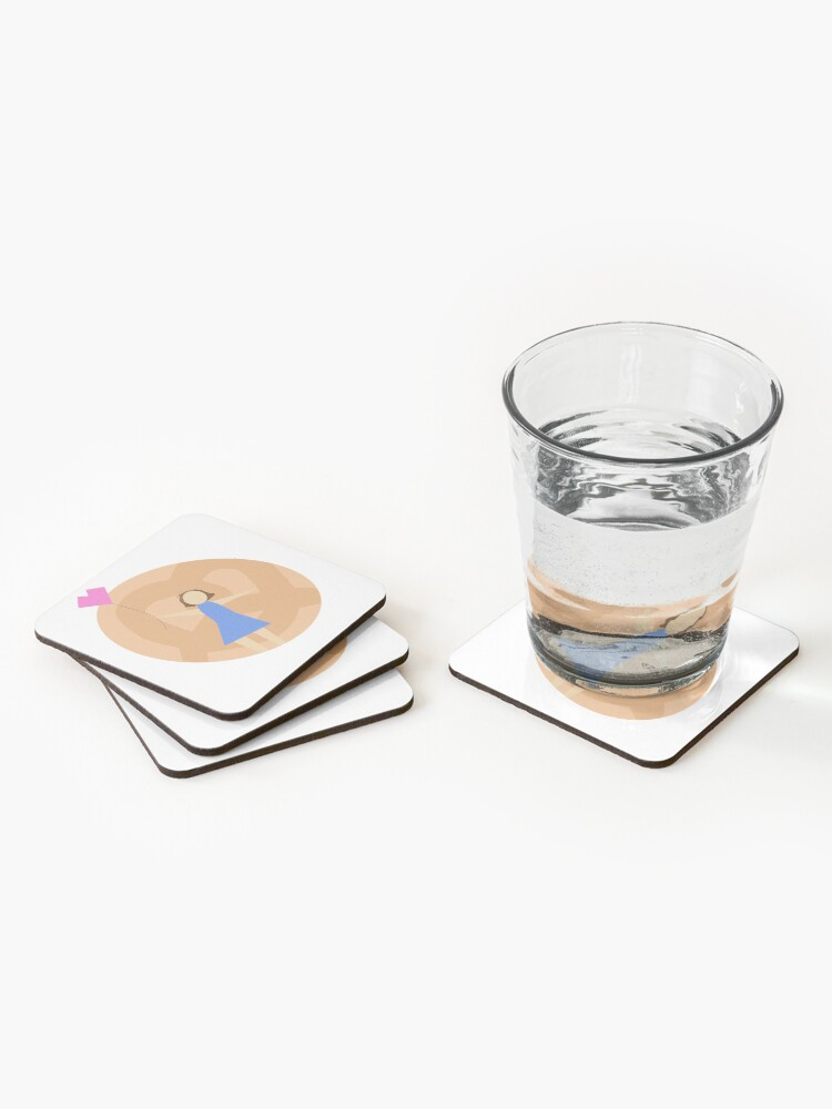 Alternate view of crazy ex girlfriend- season 1 (Rebecca with bagel) Coasters (Set of 4)