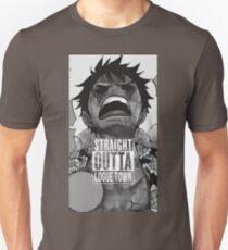 """Luffy  """"Straight Outta LogueTown"""" T-Shirt"""