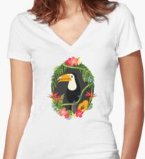 Toucan Fitted V-Neck T-Shirt
