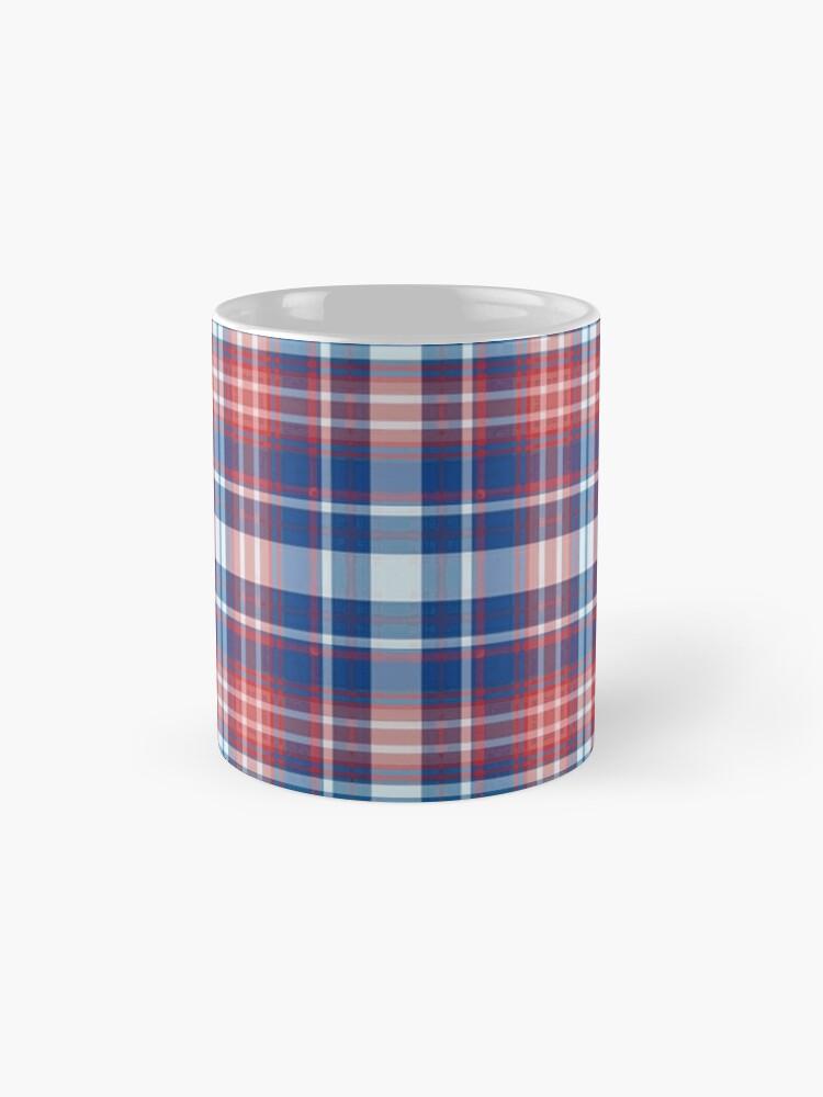 Alternative Ansicht von Rot, weiß und blau kariert Tasse