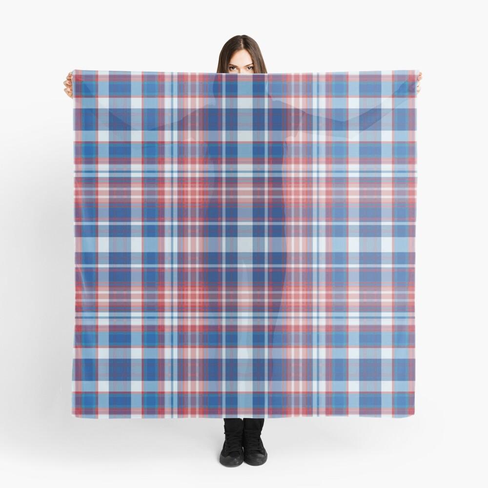 Rot, weiß und blau kariert Tuch