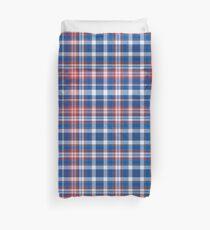 Rot, weiß und blau kariert Bettbezug