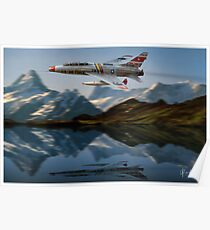 F-100F Over Water Poster