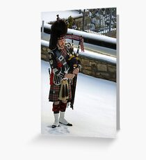 Piper in the snow Greeting Card