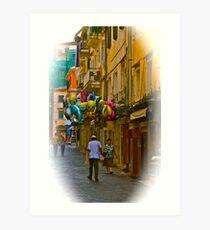 Streets Of Corfu (Greece). by Brown Sugar . Merry Christmas. F*. Favorites: 2 Views: 436 .  Kalimera Hellada ! Epitichia ! Art Print