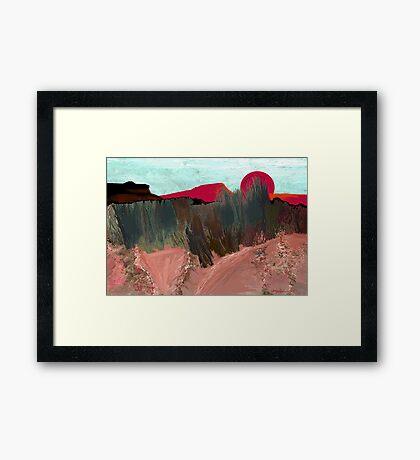 """""""Desert Sunset""""  - Arizona desert hills. Framed Print"""