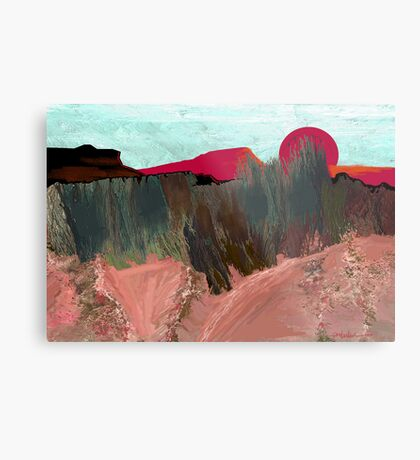 """Desert Sunset""  - Arizona desert hills. Metal Print"