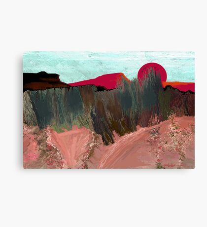 """Desert Sunset""  - Arizona desert hills. Canvas Print"
