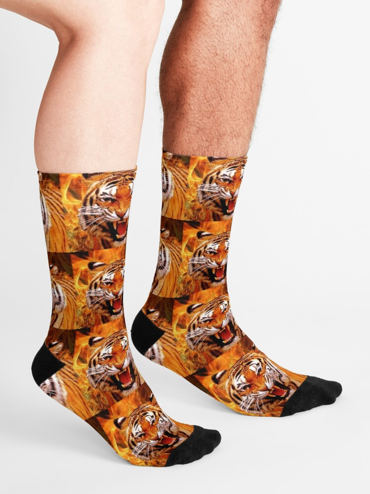 Alternate view of Tiger and Flame Socks