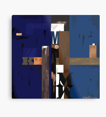 """Blue MK""  - Rich blue supports the structure. Metal Print"