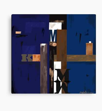 """""""Blue MK""""  - Rich blue supports the structure. Canvas Print"""
