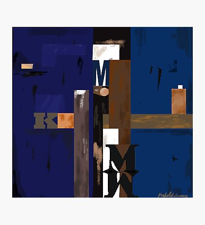 """""""Blue MK""""  - Rich blue supports the structure. Photographic Print"""