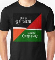 """Making Christmas / This is Halloween"" Nightmare Before Christmas T-Shirt"