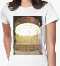 Carousel Long exposure  Women's Fitted T-Shirt