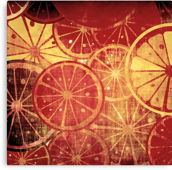 Lemons grunge by Richard Laschon