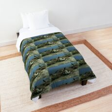 White and Black Nudibranches  Comforter