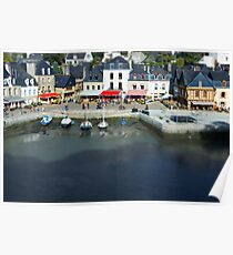 The Port of St Goustan - Auray - Brittany - France - Tilt Shift Effect Poster