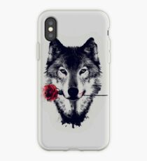 The Wolf With a Rose iPhone Case