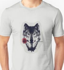 The Wolf With a Rose Unisex T-Shirt