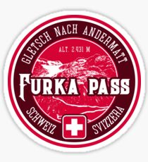 Furka Pass Switzerland 03 T-Shirt + Sticker Sticker