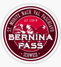 Bernina Pass Switzerland T-Shirt + Sticker Sticker