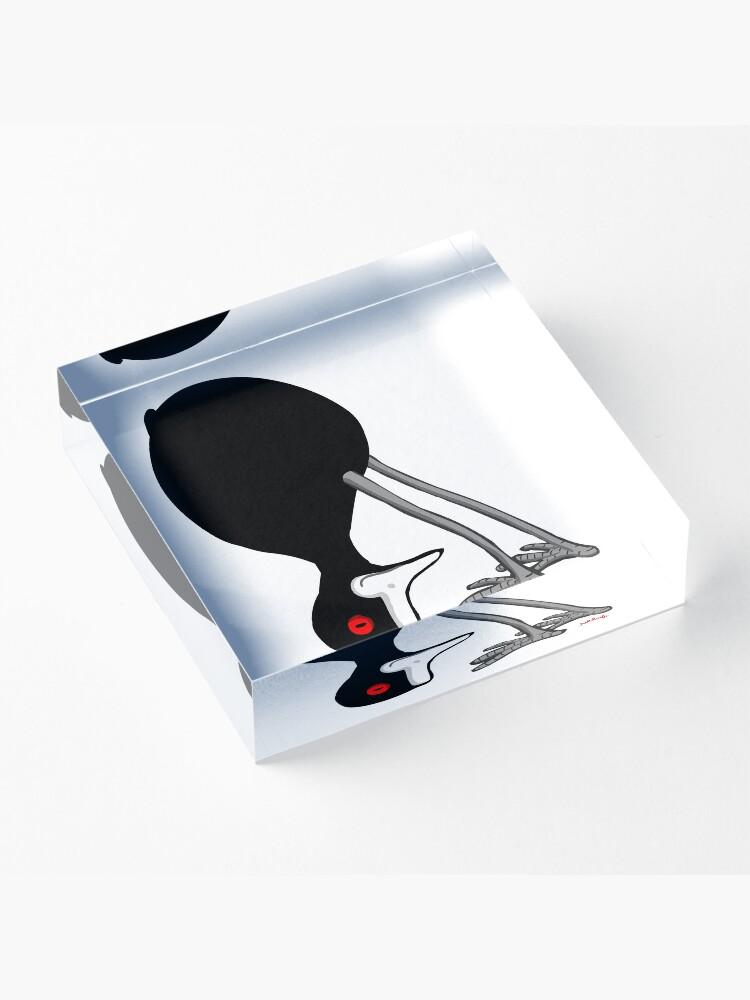 Alternate view of half headstand Acrylic Block