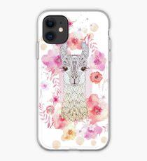 ALPACA BABY & FLOWERS iPhone Case