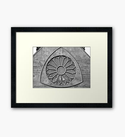 Cathedral Window in B&W Framed Print
