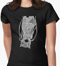 Bat Zentangle Womens Fitted T-Shirt