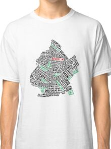 Brooklyn New York Typography Map Classic T-Shirt